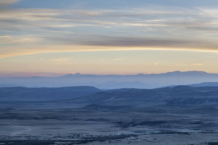 foothills: dusk over prairie, foothills and Rocky Mountains - looking west from Soapstone Praiire Natural Area, Colorado