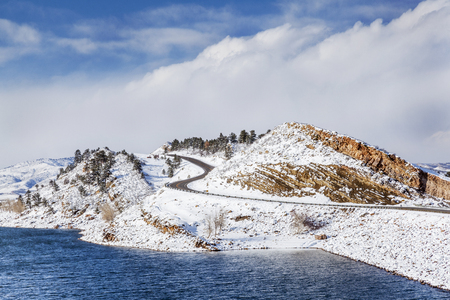 horsetooth reservoir: Horsetooth Reservoir near Fort Collins, Colorado