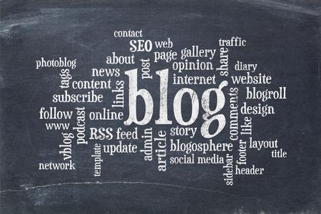 単語やビンテージ スレート黒板のブログやブログのデザインに関連するタグの雲