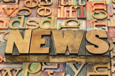 wood type: news word in wood type
