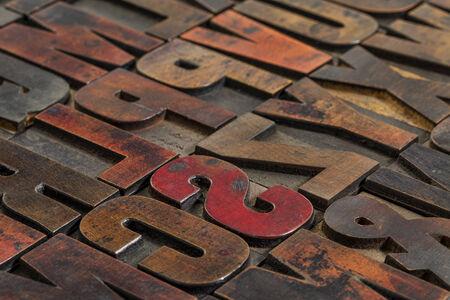 wood type: typography abstract vintage letterpress wood type  printing blocks Stock Photo