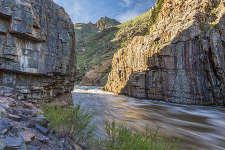 poudre river: Cache la Poudre River at Little Narrows near Fort Collins, Colorado - springtime flow
