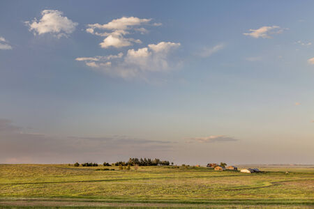 pawnee grassland: farmland and prairie landscape in eastern Colorado - Pawnee National Grassland