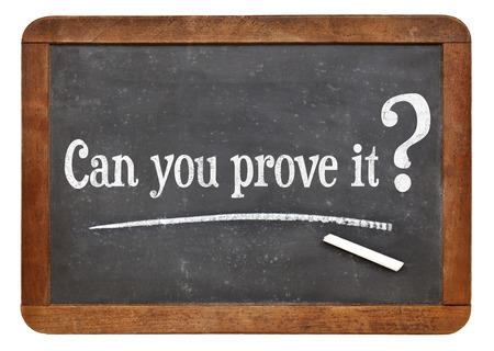 당신은 빈티지 슬레이트 칠판에 그것을 질문을 증명할 수