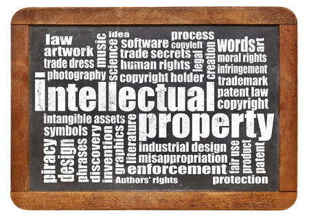 trade secret: intellectual property word cloud