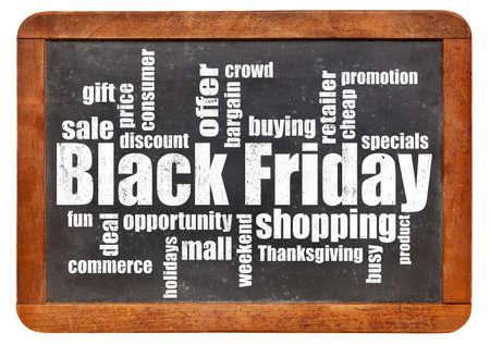 Black Friday shopping word cloud Stock fotó