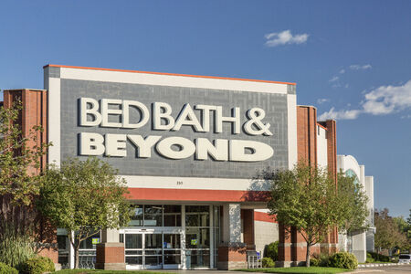 bath room: FORT COLLINS, CO, USA - SEPTEMBER 16 2014: Bed Bath & Beyond Inc. (also B3) is a chain of domestic merchandise retail stores in the US, Canada and Mexico. The stores sell goods primarily for the bedroom and bathroom, as well as kitchen and dining room.