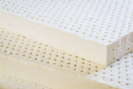 latex: exposed layers of natural latex from an organic mattress