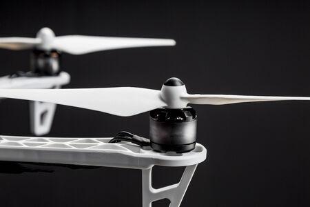 propellers of a hexacopter drone against black background Zdjęcie Seryjne