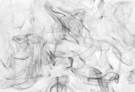 smoke background and texture from burning incense sticks photo
