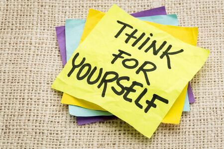 삼베 캔버스에 대한 스티커 노트에 대한 조언을 스스로 생각하십시오.