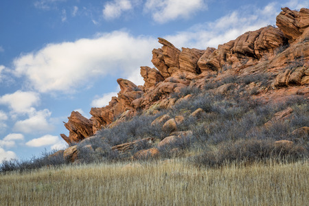 state park: sandstone cliff at foothills of Rocky Mountains,Lory State Park near Fort Collins, Colorado