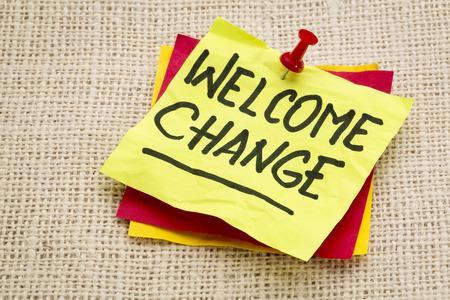환영 변경 - 삼베 조각에 대한 스티커 메모에 대한 조언