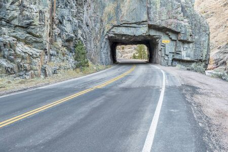 Poudre Canyon tunnel on Colorado highway 14, west of Fort Collins