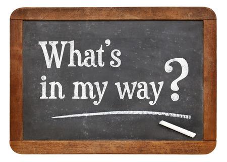 What is in my way? A  question on a vintage slate blackboard
