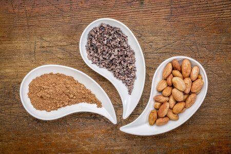 カカオ豆及びニブポイント パウダー - 涙の平面図形に対して無作法な木鉢