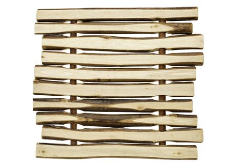 trivet: wood background abstract - trivet made of wooden sticks