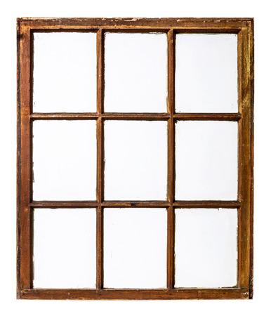 Panneau de vendange, grunge, fenêtre à guillotine avec vitre sale Banque d'images - 40302214