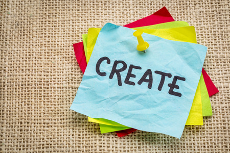 create reminder on a sticky note - creativity concept