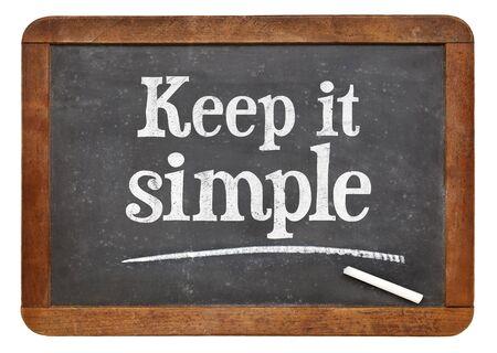 Keep it simple - advice on a vintage slate blackboard