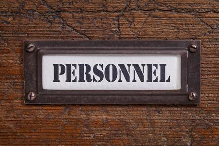 file cabinet: personal - etiqueta archivador, titular de bronce contra grunge y madera rayado