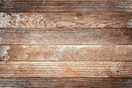 weathered wood background with old white painted planks