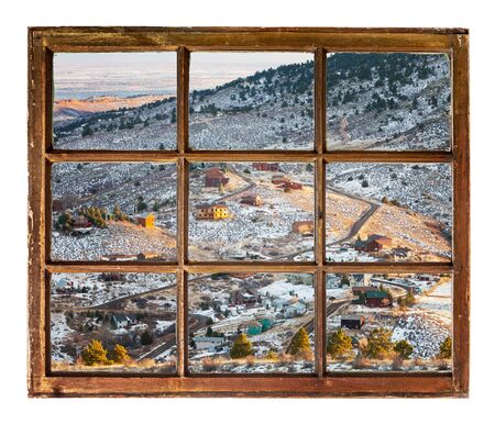 fort collins: mountain homes in northern Colorado near Fort Collins - a view through a vintage sash window