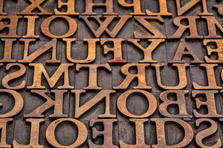 letterpress: vintage grunge letterpress wood type printing blocks abstract