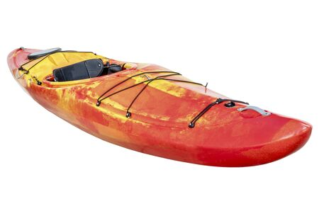 crossover: crossover kayak (whitewater and river running kayak) isolated with a clipping path