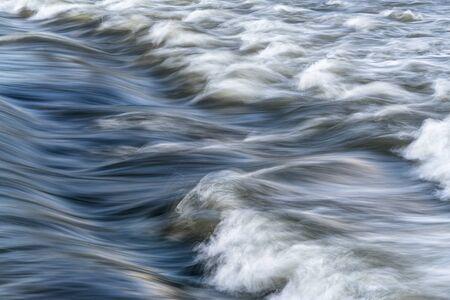 poudre river: river rapid abstract - Cache la Poudre River in Fort Collins, Colorado