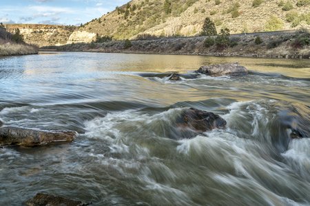 burns: Rodeo Rapid on the upper Colorado River at Burns, Colorado, USA, looking upstream