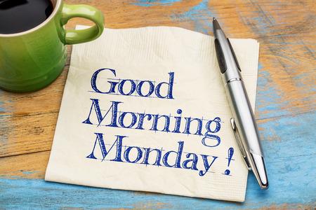 Guten Morgen Freitag Handschrift Auf Einer Serviette Mit