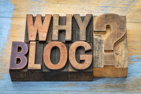 letterpress type: Why blog question - text in vintage letterpress wood type printing blocks