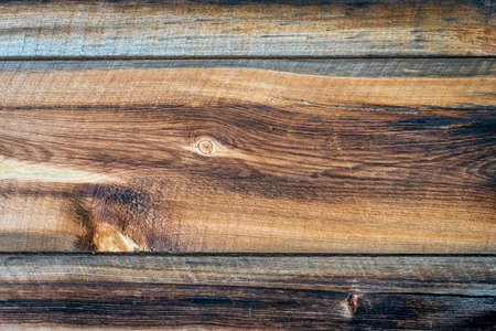 weathered wood texture of a rustic cabin wall Stock Photo