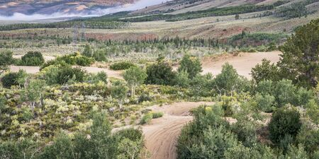 legally: off road trails in North Sand Hills, only place in Colorado to legally ride on sand dunes Stock Photo