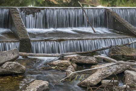 cache la poudre: one of numerous diversion water diversion dams on the Poudre RIver in Fort Collins, Colorado