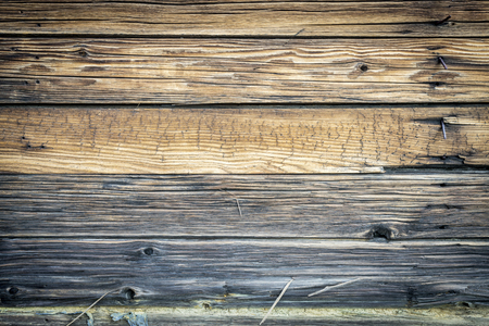 weathered: weathered wood texture of a rustic cabin wall Stock Photo