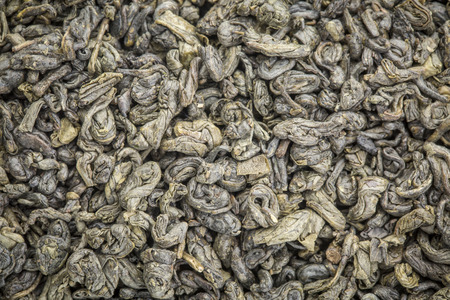 gunpowder tea: background texture of loose leaf Gunpowder  green tea