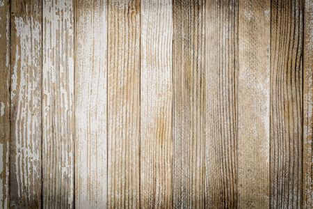 blank spaces: weathered wood background with old white painted narrow planks