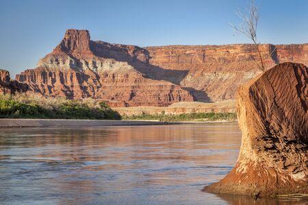 Colorado River in Canyonlands National Park near Potash, Utah Stock Photo