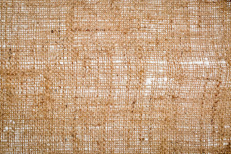 burlap canvas background (bottom side of primed and stretched art canvas) Stock Photo