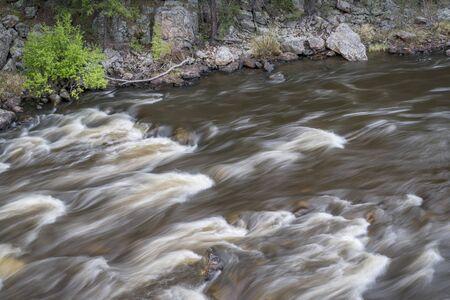 cache la poudre river: rapid on the Cache la Poudre River in Big Narrows, Colorado