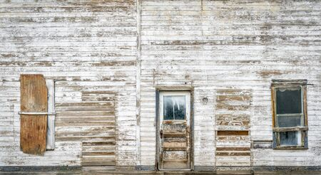 old building facade: front facade of old abandoned building in a ghost town of eastern Utah