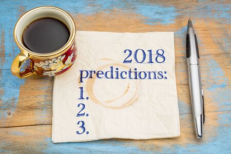 一杯のコーヒーでナプキンに 2018年予測一覧