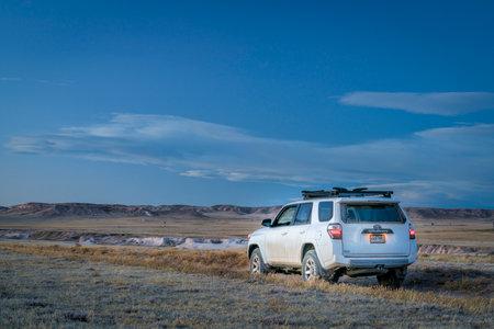 Nunn, CO, USA   January 9, 2018: Toyota 4Runner SUV (2016