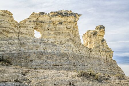Monument Rocks  (Chalk Pyramids) in western Kansas