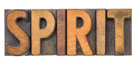 spirit - isolated word in vintage letterpress wood type