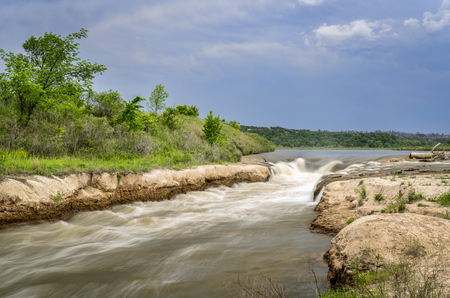 Norden Chute on Niobrara River in Nebraska, springtime scenery