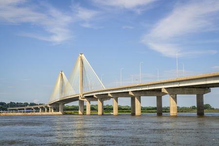 The Clark Bridge is a cable-stayed bridge across the Mississippi River between West Alton, Missouri and Alton, Illinois.