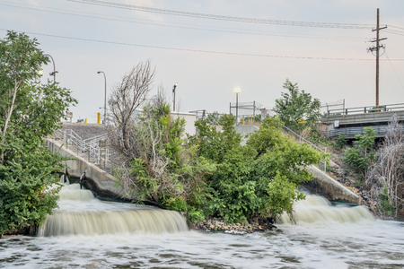 sewage effluent from Denver metro wastewater treatment facility to South Platte River